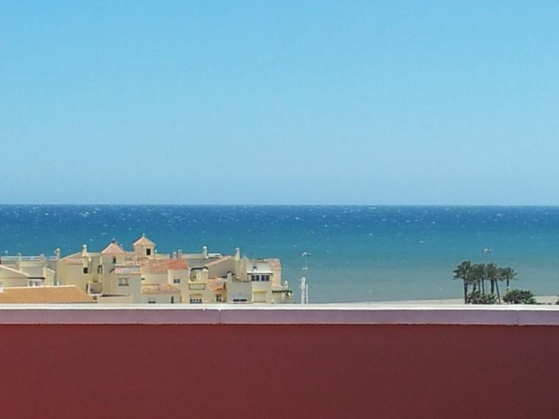 view of the Mediterraanean Ocean from upper roof terrace