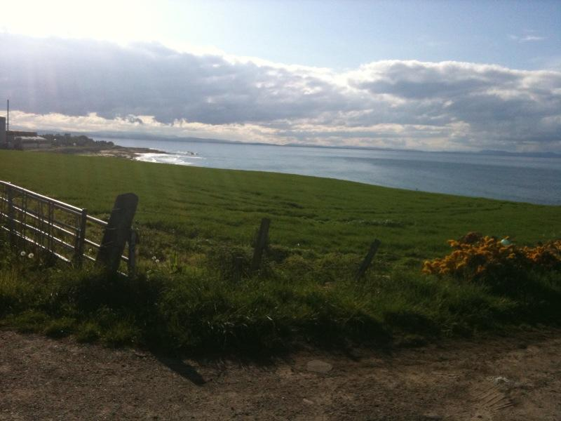 View across Moray Firth with Burghead to the left