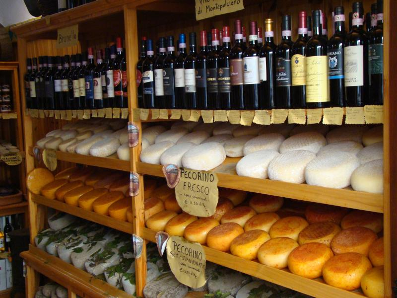 A wonderful selection of wines and cheeses