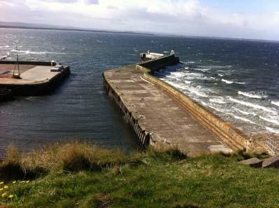 Burghead's harbour was designed by Thomas Telford