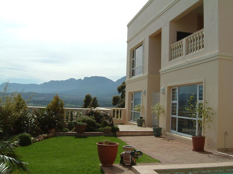 Highcliffe House looking towards the Hottentots Holland mountains