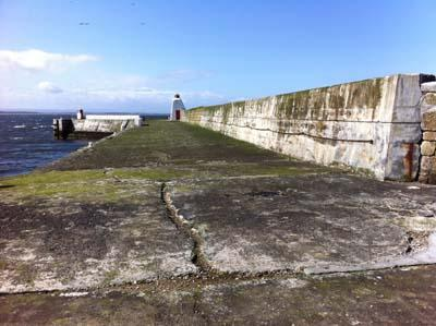 The harbour wall