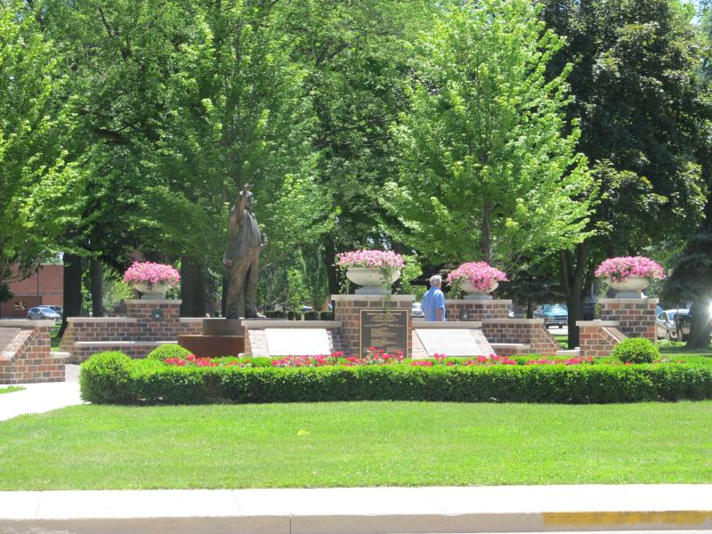 View of Soderstrom Memorial in City Park