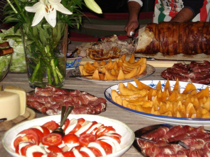 A selection of typical local dishes