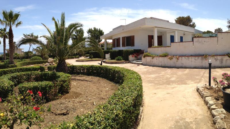 View of Villa Vendicari's sea side from its garden