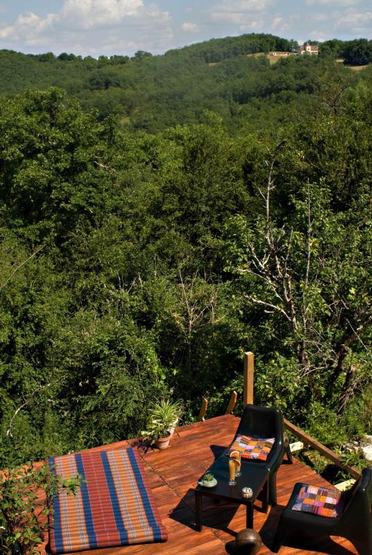 Espace Petit déjeuner et bain de soleil