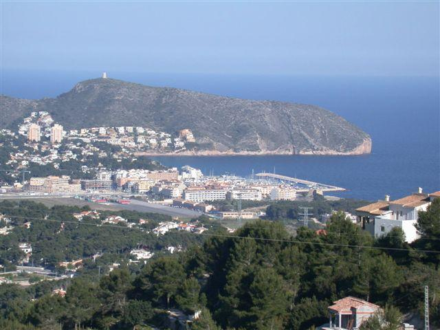View of Moraira from the villa