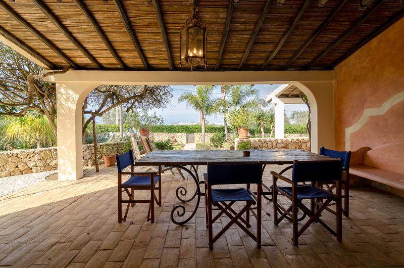 One of the outside covered patios - perfect for meals