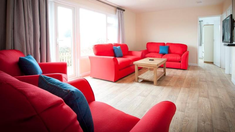 Saunton Beach Villas - Lounge with TV and blu-Ray player