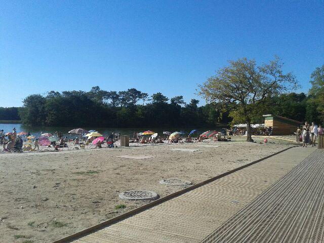 Luc Gurcon with man made beach, horse riding, boating, tennis and lots more.  10 min drive away.