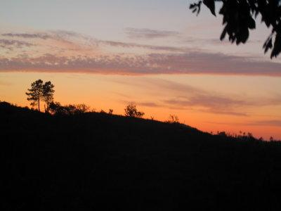 Sunset view from the hot tub - after a hard day's holidaying pour a cooling drink and relax