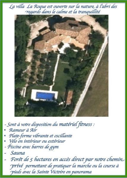 La Villa La Roque vue du Ciel / the villa from the sky