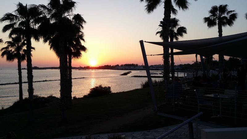 Sun Set over Paphos Harbour