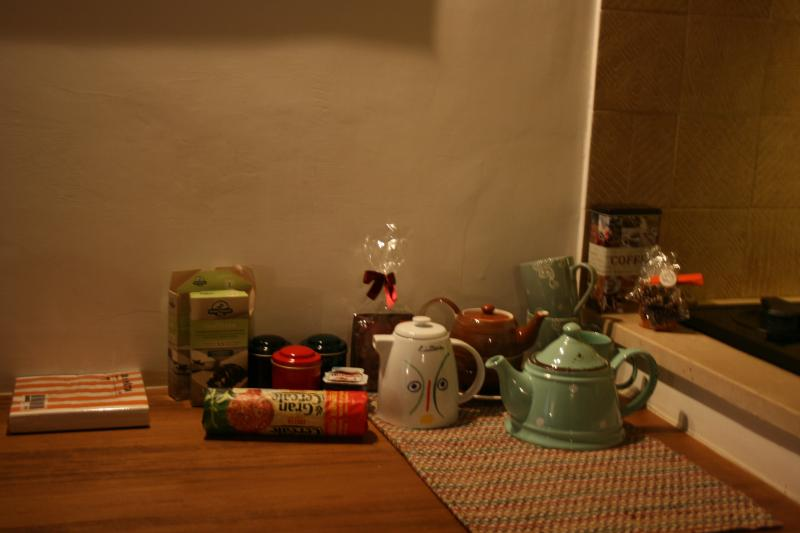 You will always find some breakfast, tea, biscuits, coffee etc.
