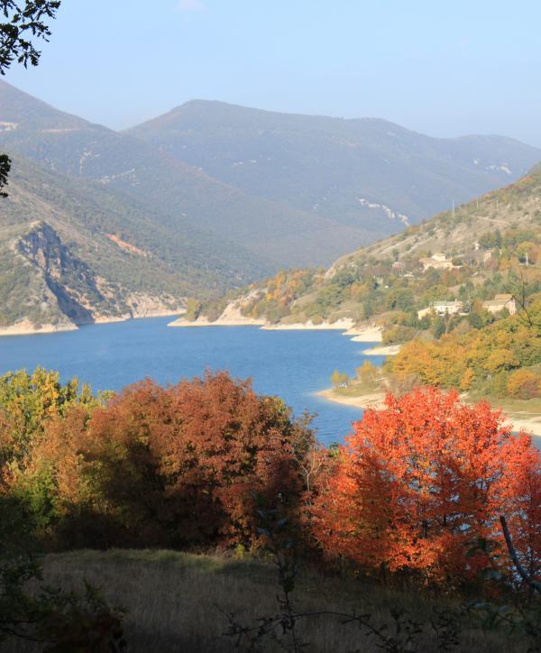 The Beautiful Lago di Fiastra in Autumn