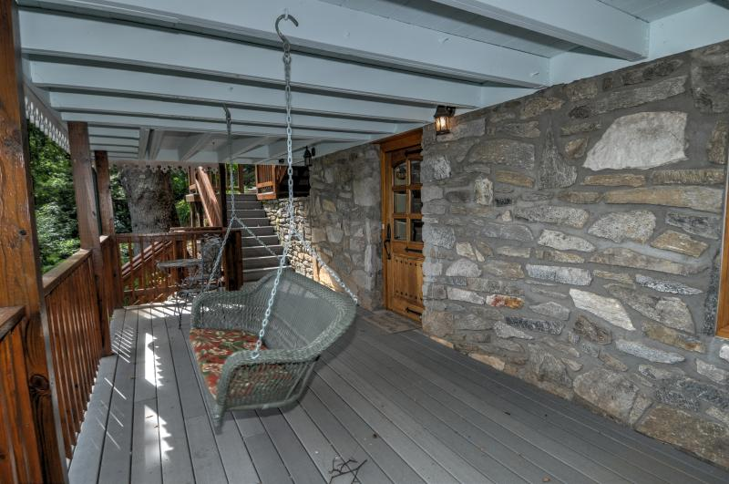 Lower Level Covered Porch with swing
