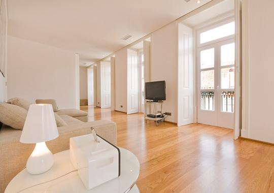 a total of 7 french doors giving beautiful light to the apartment