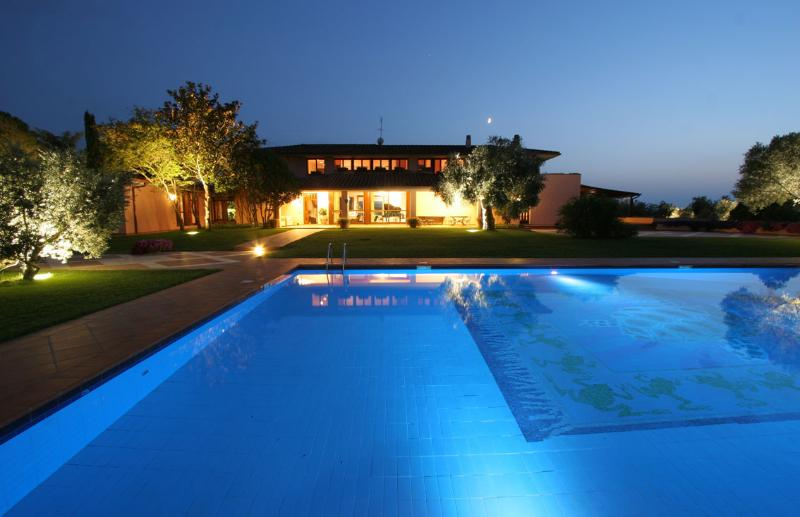 Front of the villa /olympic-sized swimming pool.