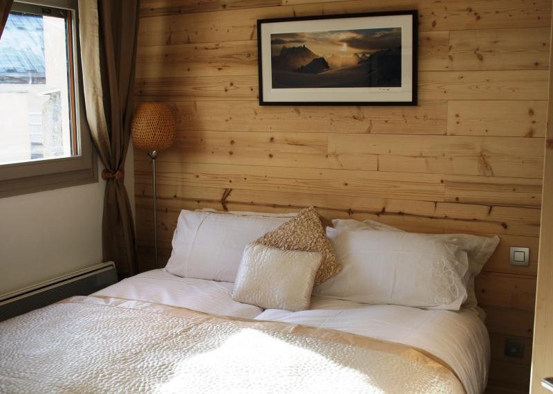 Camera da letto viste del Monte bianco