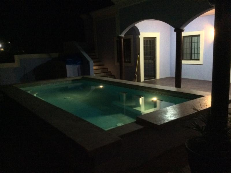 Night time swim