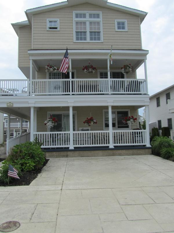 Front of House on lovely tree lined cul de sac