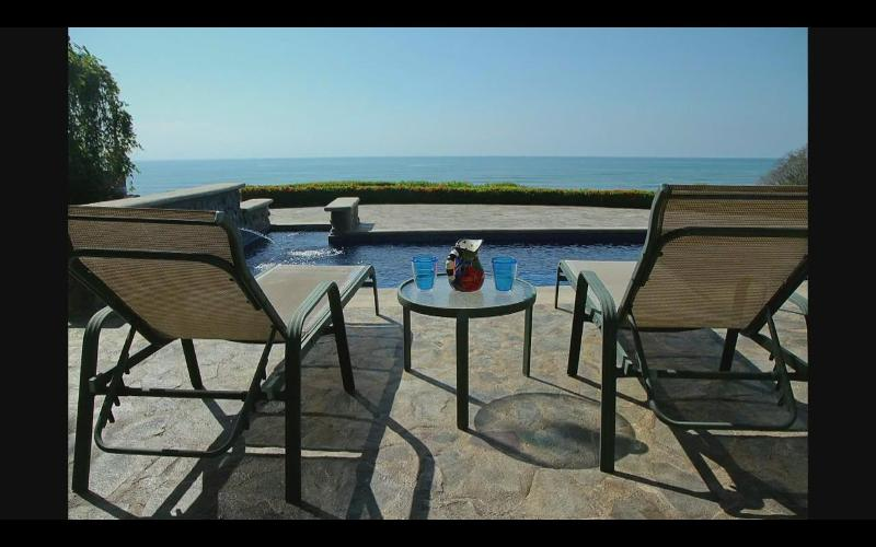 Lap pool with oceanview