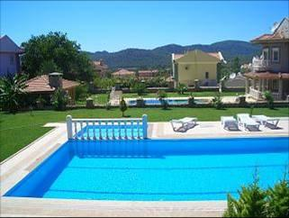 Swimming pool with separate children's  pool