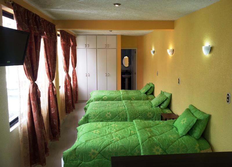 3 single beds, LED tv