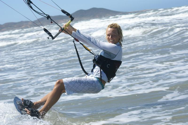 Guest kiting at the beach