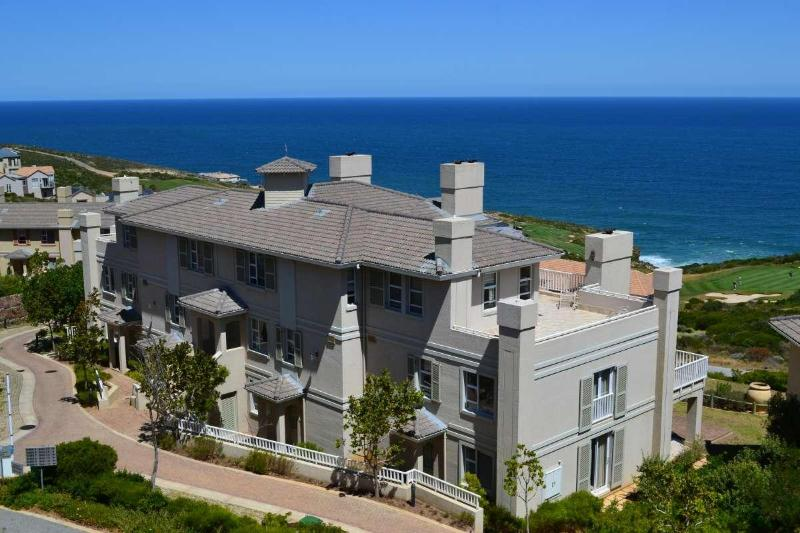 Golf villa with sea and golf course views