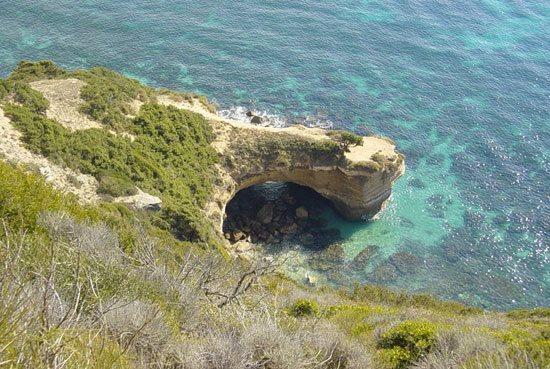 alcantilado de Barbate desde la Torre de Tajo