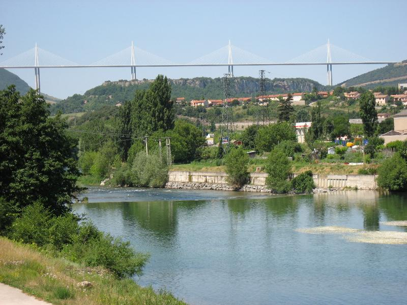 Millau bridge over Tarn Gorge