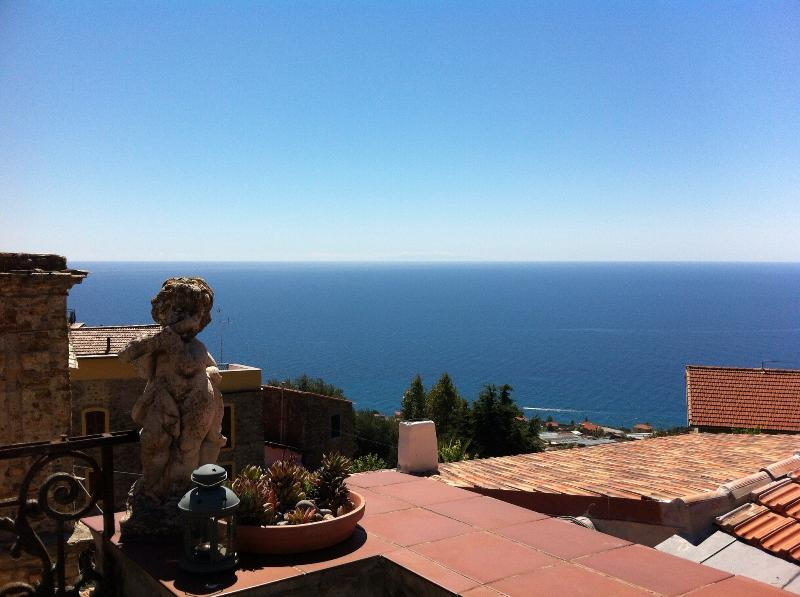 The sea view from the terrace of casAndrea
