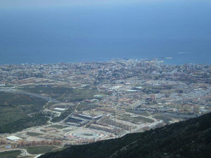 View from cable car at Benalmadena