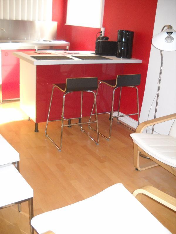 open - kitchen cabinet bar