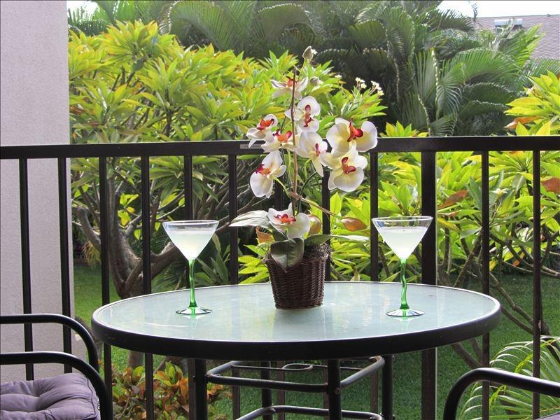 Cocktail hour on the Lanai.