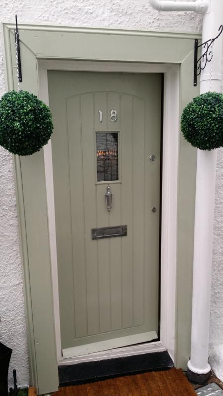 Entrance door.