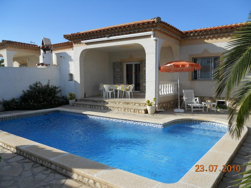 Rear Terrace and Private Pool.