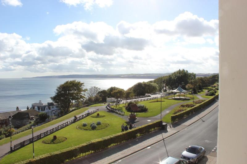 View of Crescent gardens towards Speeton Cliffs from living room