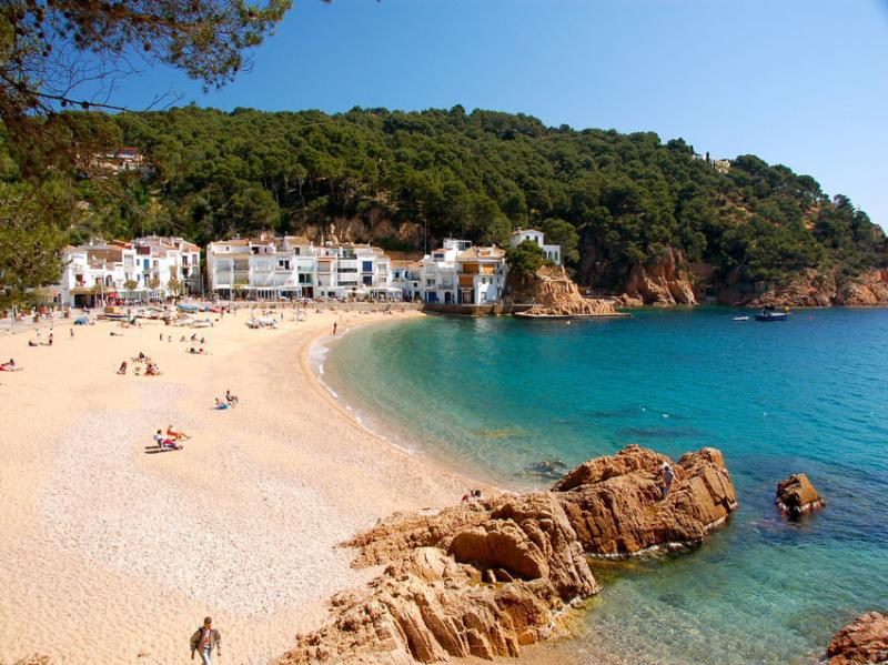 Tamariu Beach is one of many quaint beaches on the Costa Brava
