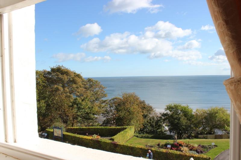 View towards Filey Brigg from bedroom