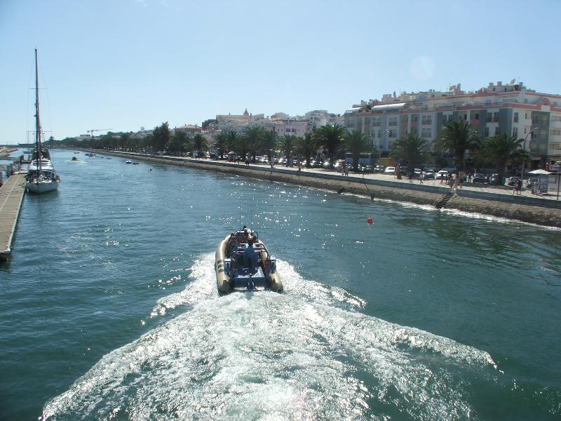 The inland waterway from the sea stretches through the centre of town