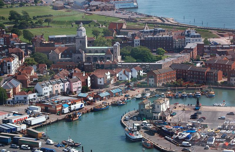 Old Portsmouth from the air