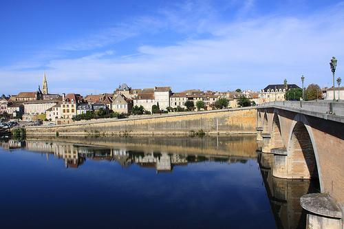 Bergerac - view from the old bridge.