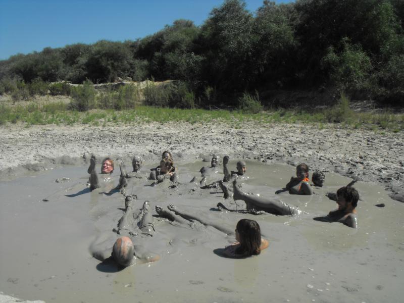 Have fun in a mud bath