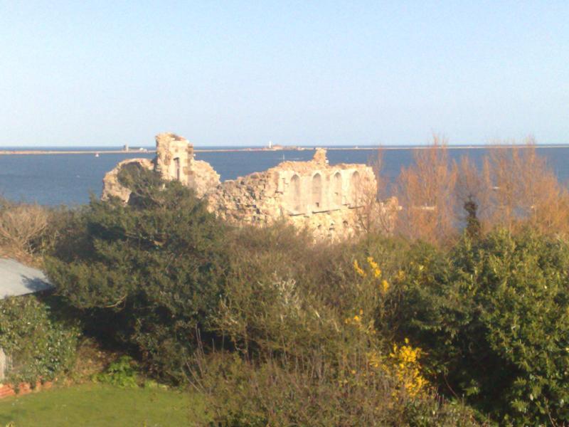 View from 'Little Gem' overlooking Sandsfoot Castle.