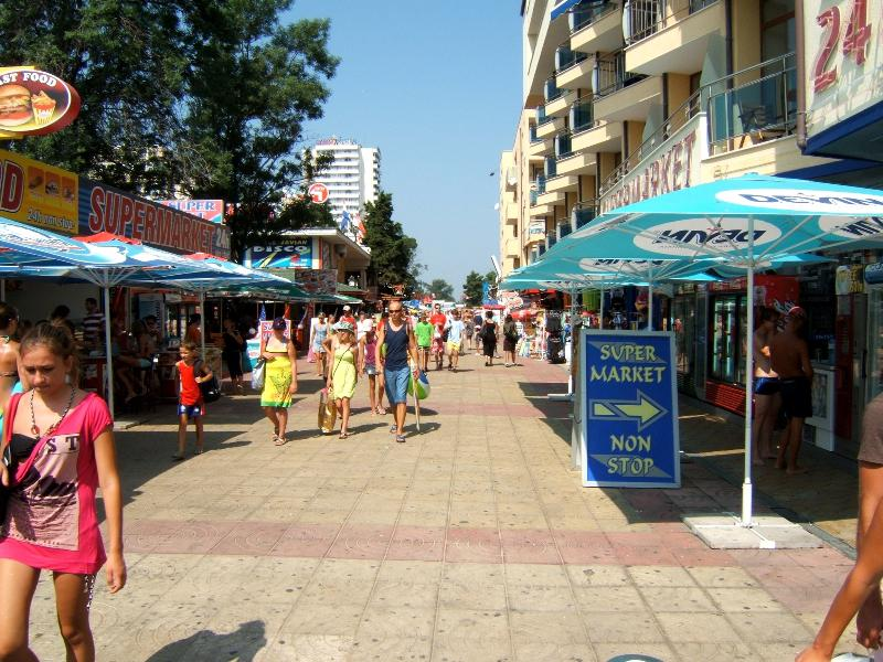 Shopping Area in Sunny Beach