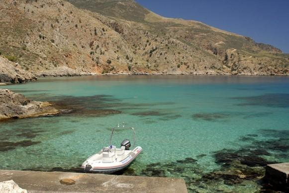 Almyrida-Go on a boat trip and discover impressive caves,fantastic coasts and small graphic bays