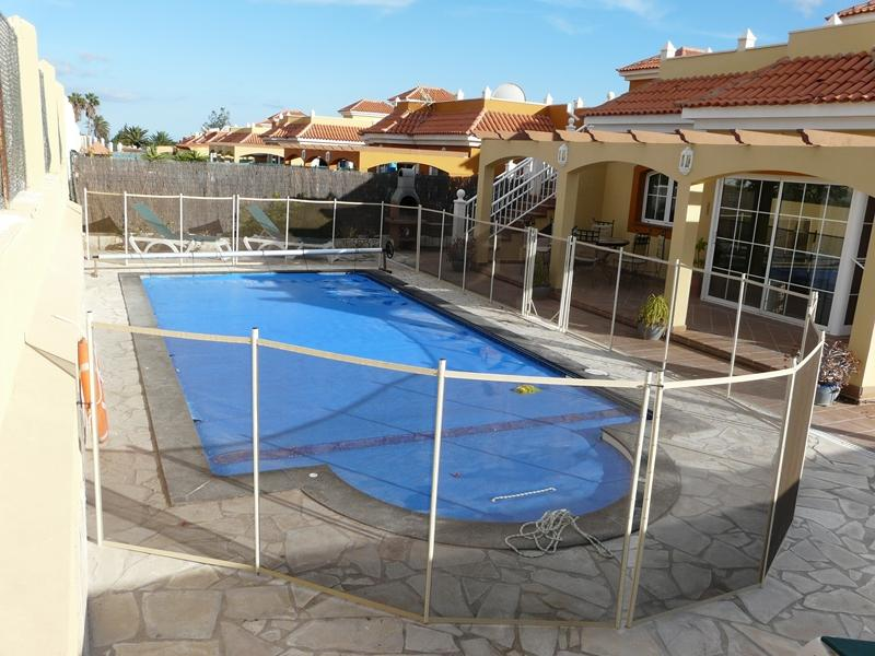 Pool fence in situ (available on request)