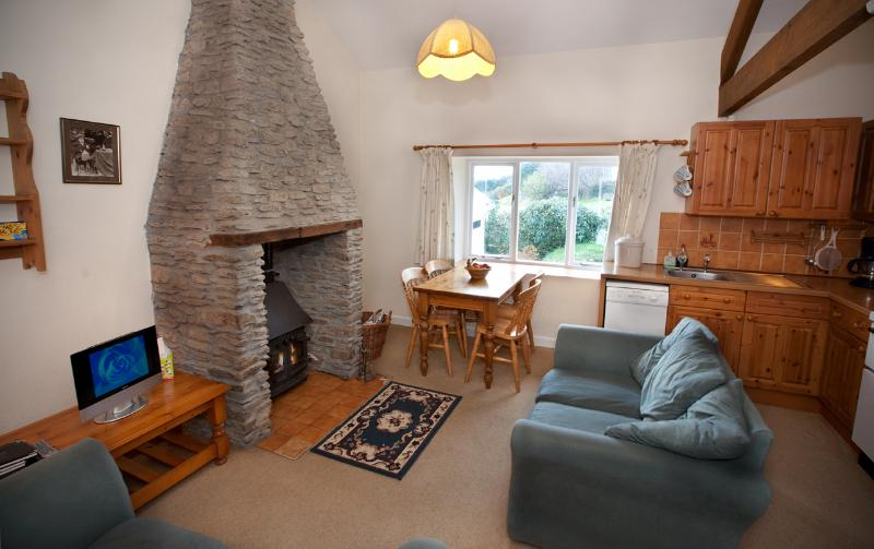 Sitting area with log burner